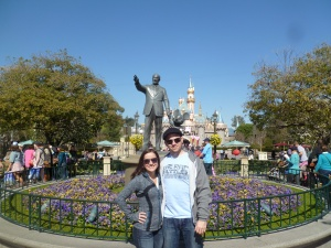 The start to our Disneyland Valentines Day