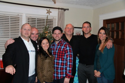 The Ahlquist Family at the airbnb Atlanta House